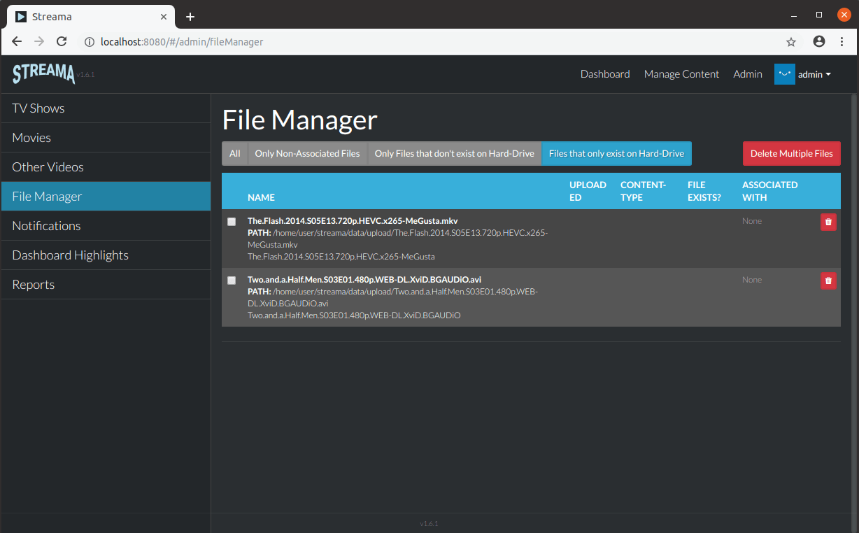 Stream Media File Manager