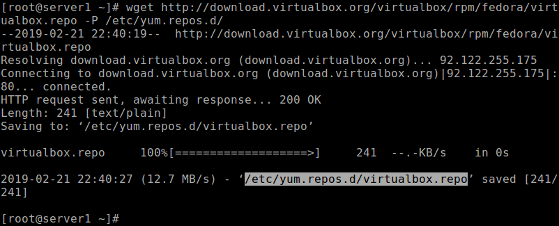 Download virtualbox.repo File