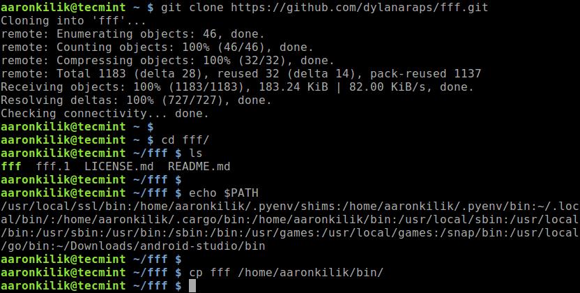 Install fff in Linux