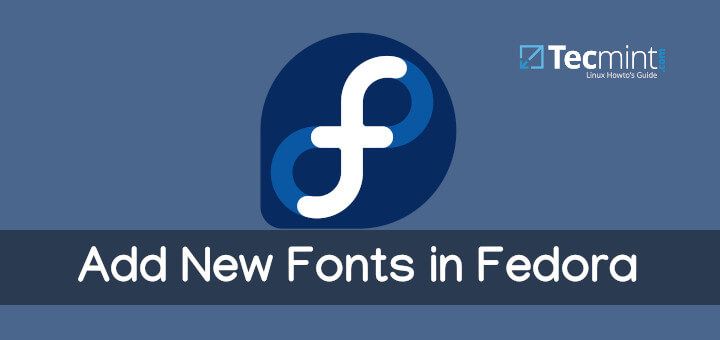 Add New Fonts in Fedora