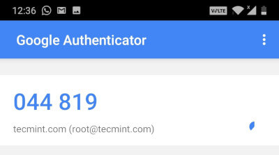 Authenticator Verification Code