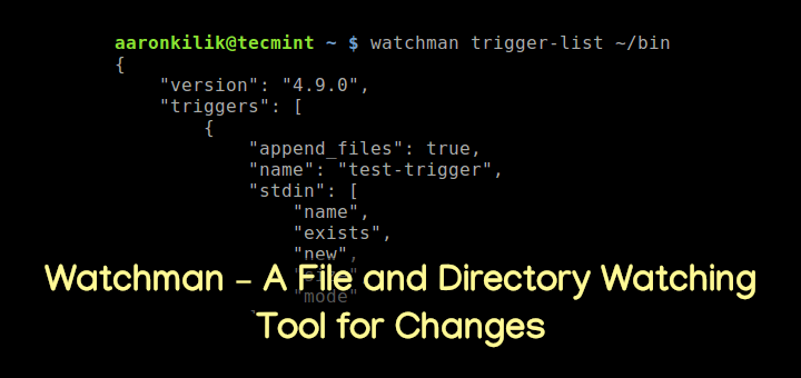 Watchman - Monitor File Changes in Linux