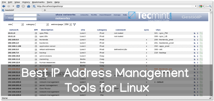 IP Address Management Tools for Linux