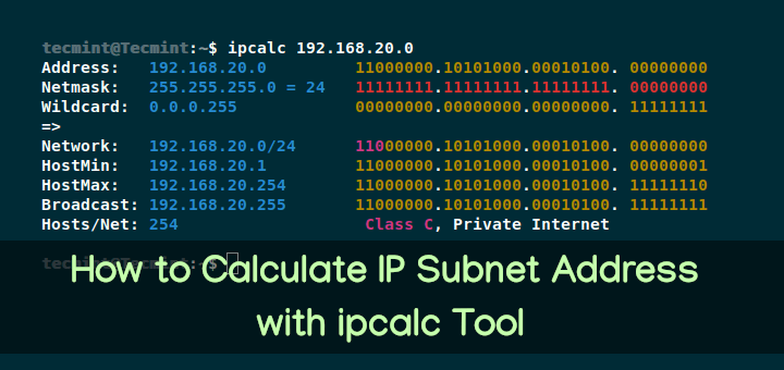 Calculate IP Subnet Address with ipcalc Tool