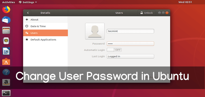 Change User Password in Ubuntu Linux