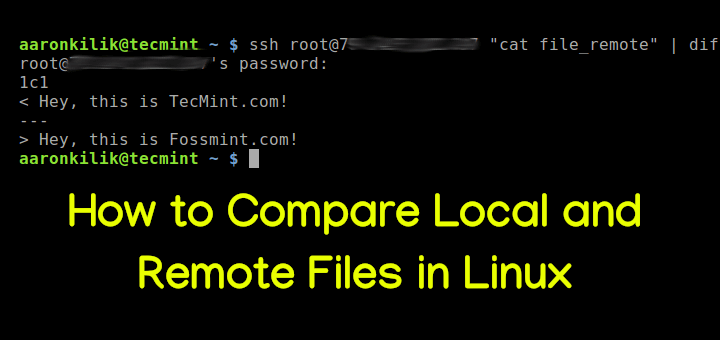 Compare Local and Remote Files in Linux