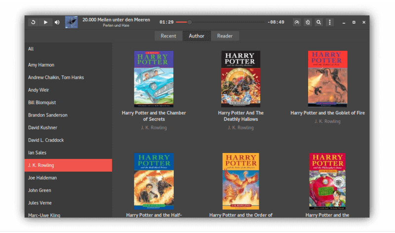 Cozy Audiobook Player for Linux
