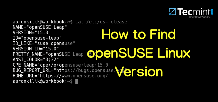 Find openSUSE Linux Version