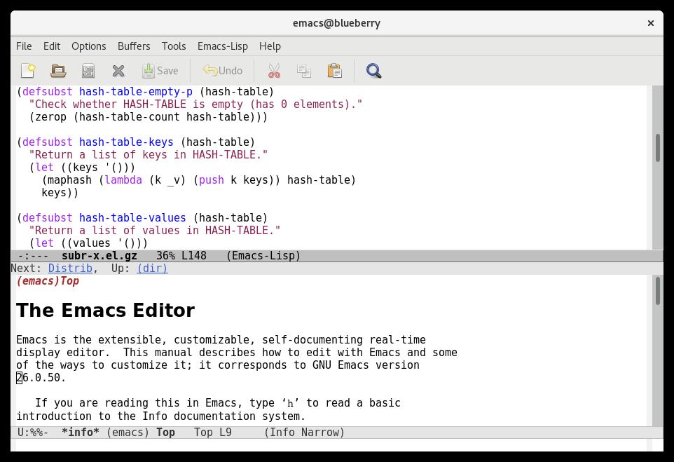 GNU Emacs Text Editor