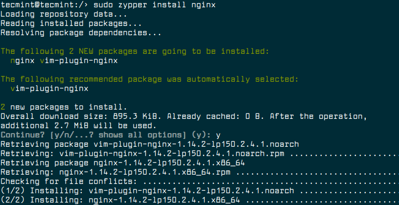 Install Nginx on OpenSuse