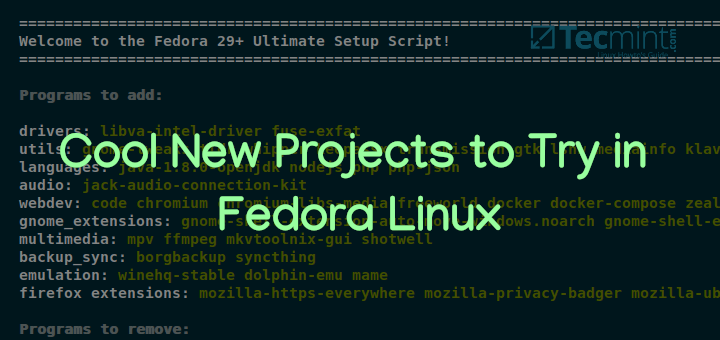 5 Cool New Projects to Try in Fedora Linux