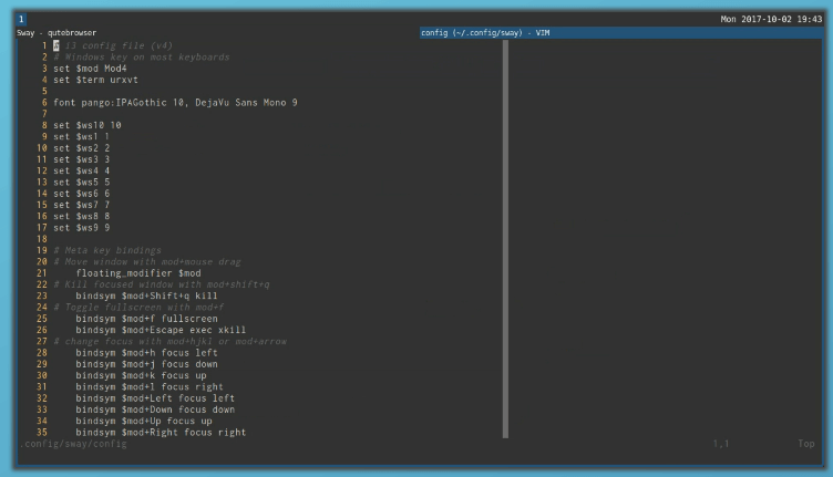 Sway - Tiling Wayland Window Manager for Linux