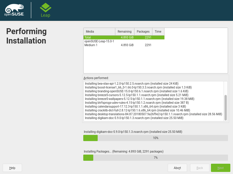Performing OpenSuse Leap Installation