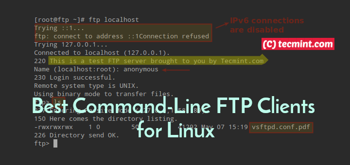 Linux Commandline FTP Clients