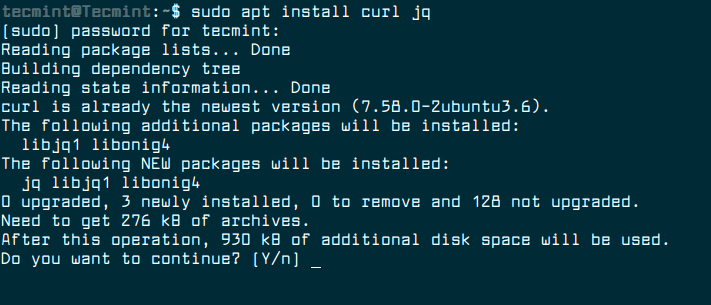 Install Curl and JQ in Linux