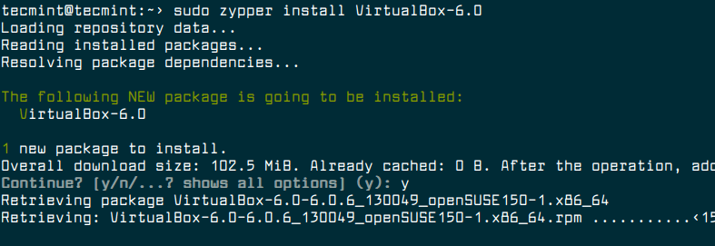 How to Install Oracle VirtualBox 6 0 in OpenSUSE