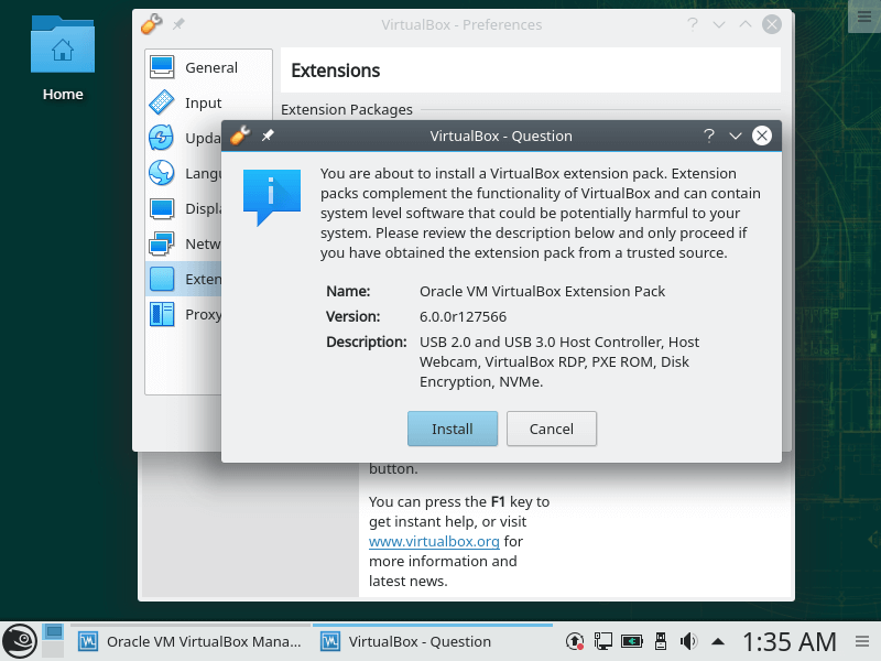 Install Virtualbox Extension Pack in OpenSuse