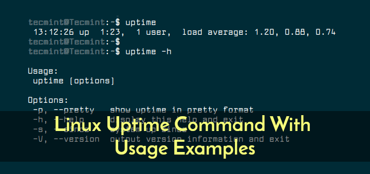 Linux Uptime Command Examples