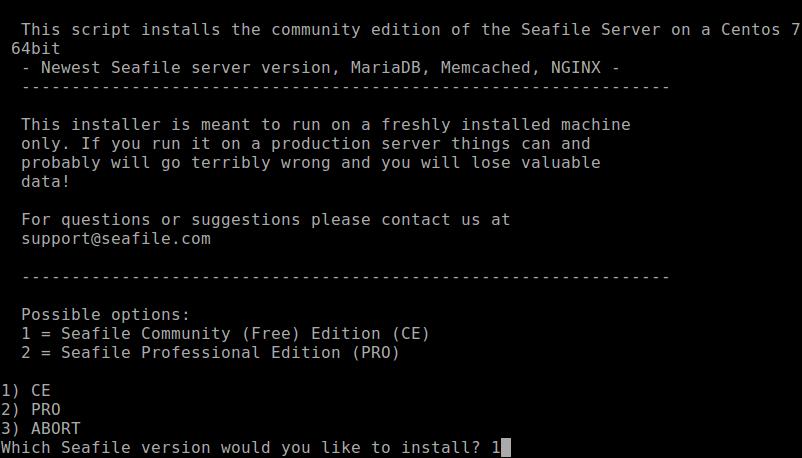 Seafile Installation Script