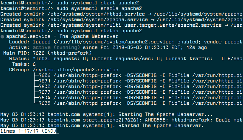 Start Apache Service in OpenSuse