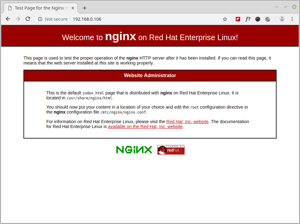 Verify Nginx Installation on RHEL 8