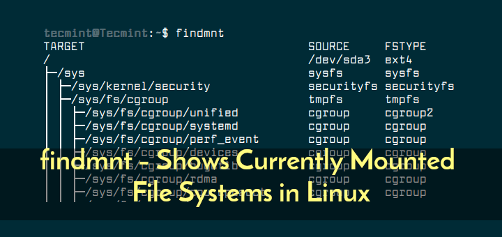 Check Linux Mounted Filesystem