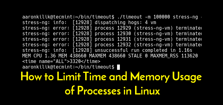 Limit Linux Process Memory Usage