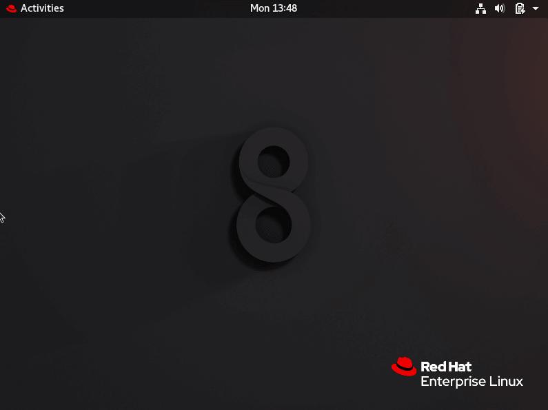 RHEL 8 Gnome Desktop
