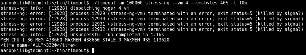 How to Limit Time and Memory Usage of Processes in Linux