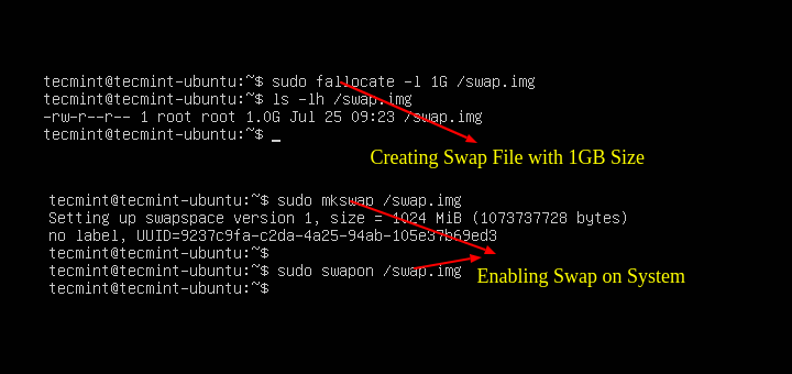 Add Swap Space on Ubuntu