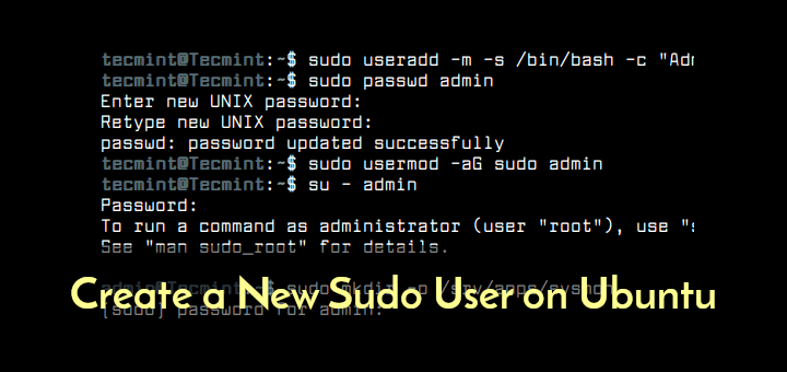 Create Sudo User in Ubuntu