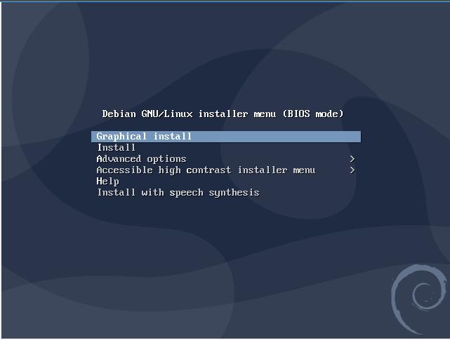 Debian Installer Menu