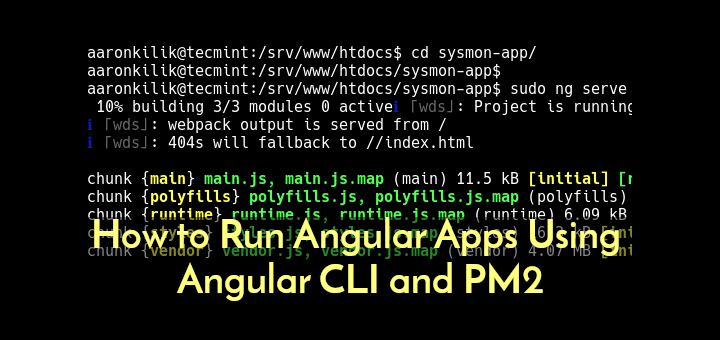 Run Angular Apps Using CLI