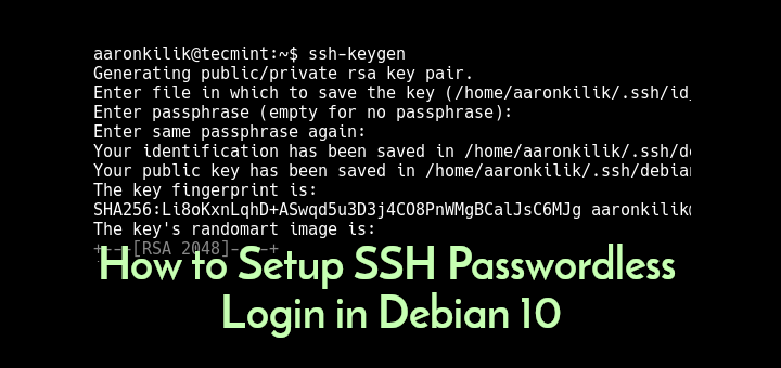 Setup SSH Passwordless Login in Debian 10