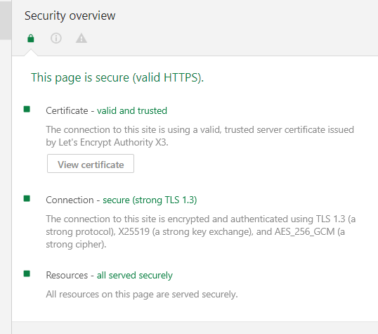Verify TLS 1.3 Protocol on Domain