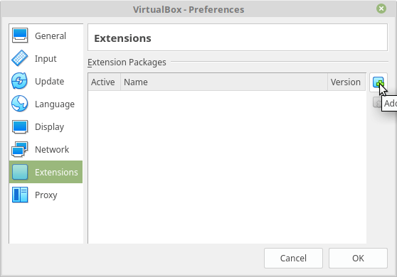 Virtualbox Extension