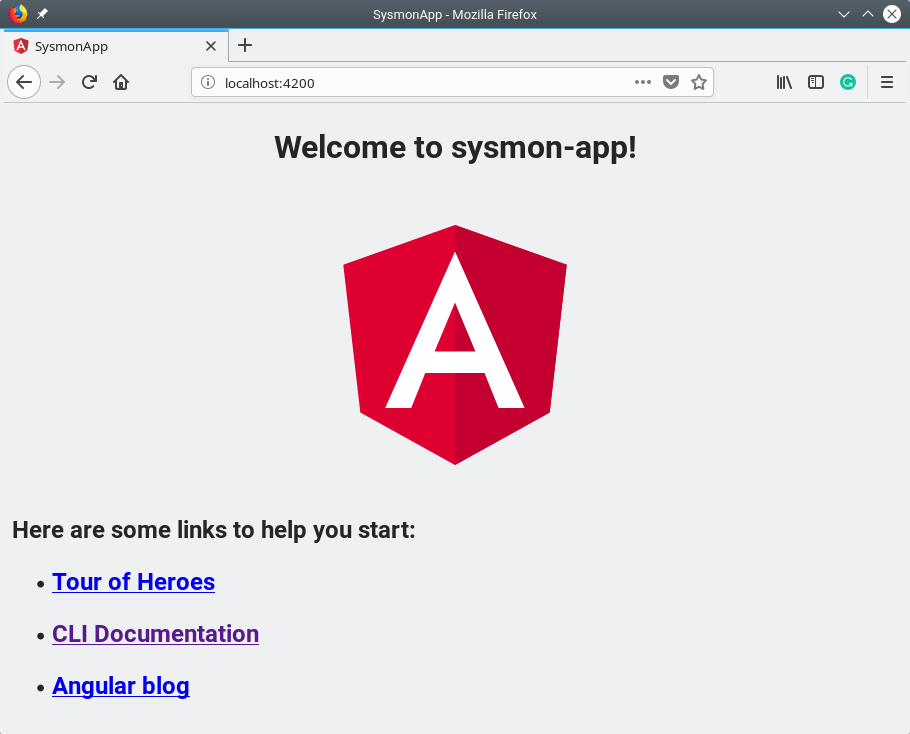 Access Sysmon Angular App from Browser
