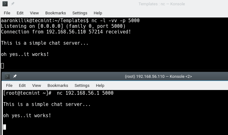 Create Chat Server in Command Line