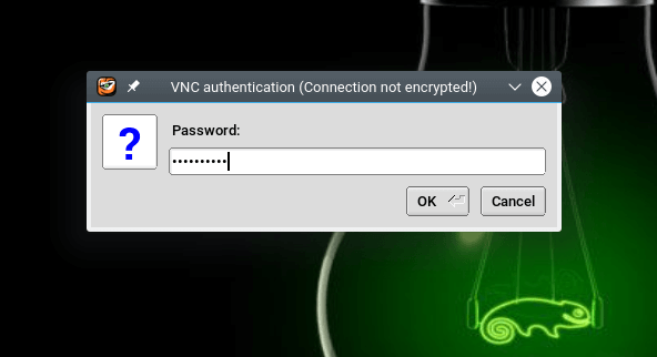 Enter VNC Login Password