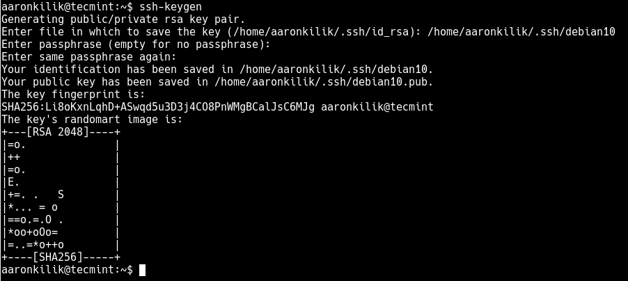 Generate SSH Key Pair
