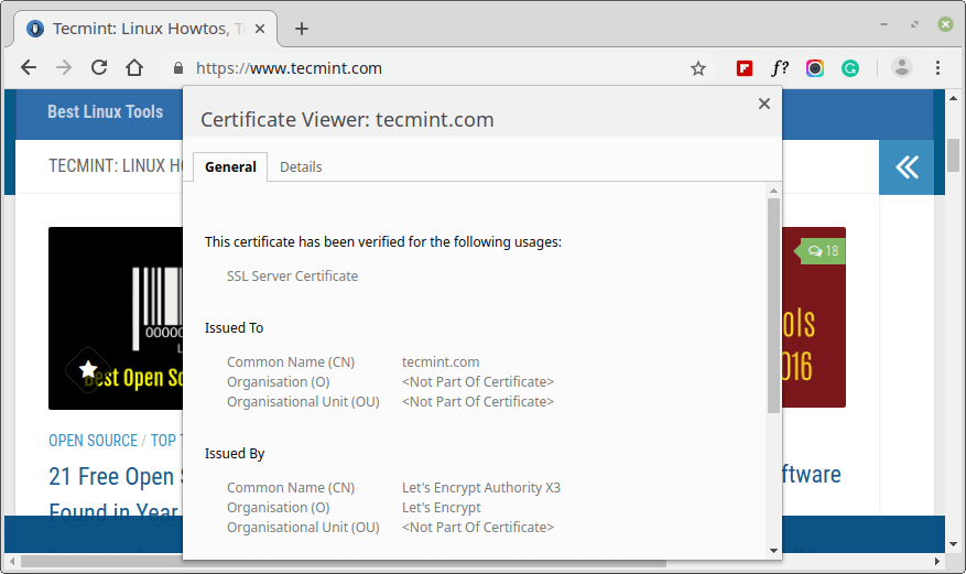 Check SSL Certificate Issuer