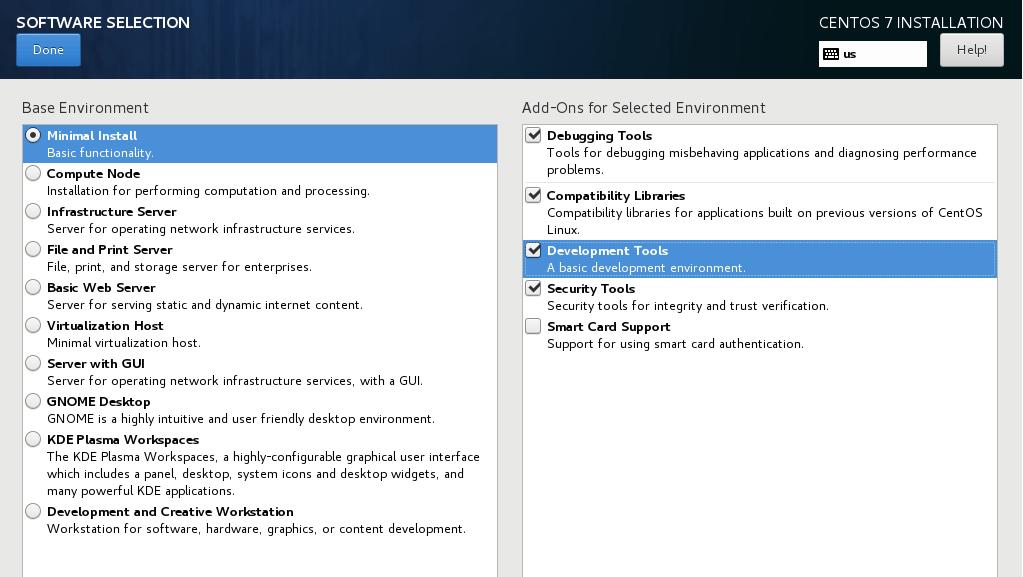 Select Minimal Install