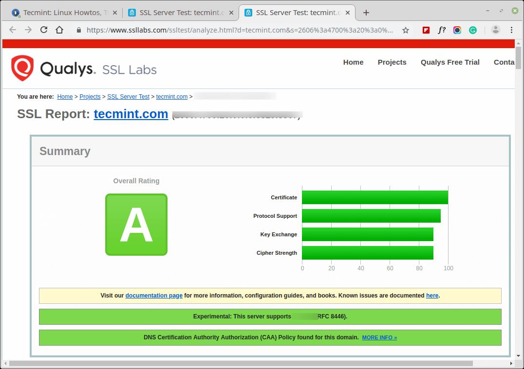 Testen Sie das SSL-Zertifikat der Website