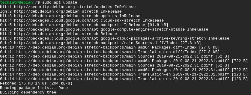 Update Debian 10 Packages