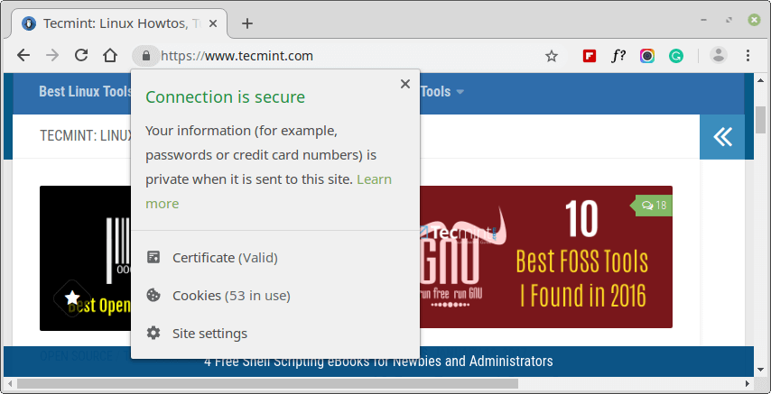 Verify HTTPS on Website