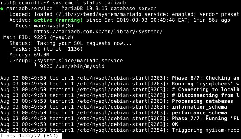 Check MariaDB Status