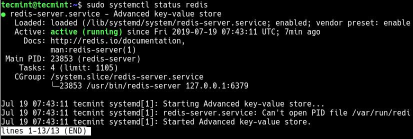 Check Redis Service Status