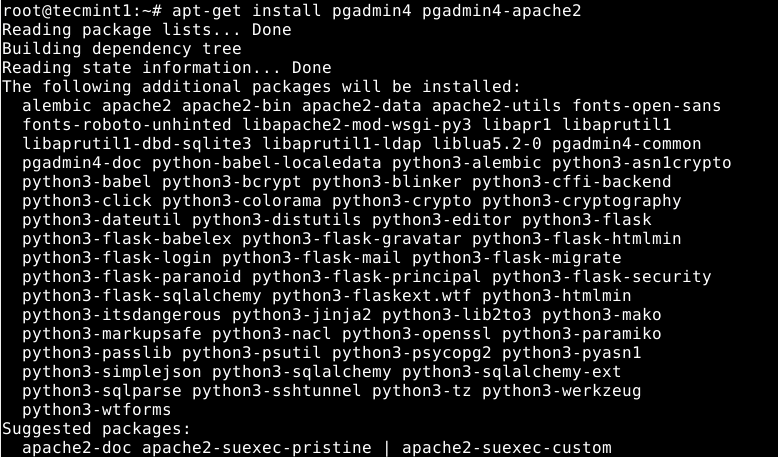 Install Pgadmin 4 on Debian 10
