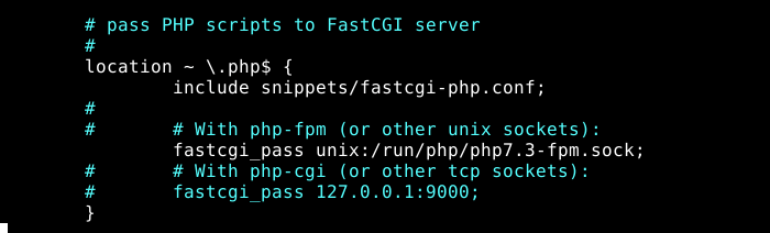 Pass PHP Scripts to FastCGI