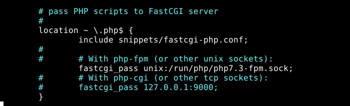 Übergeben Sie PHP-Skripte an FastCGI